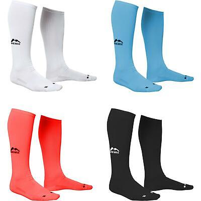 3 Pairs More Mile California Long Compression Running Socks Mens Ladies