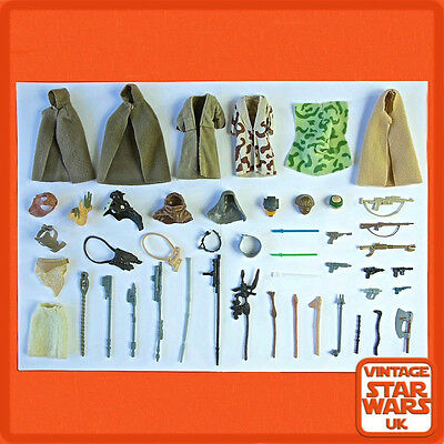 Vintage Star Wars - Return Of The Jedi Original Weapons Guns Capes Accessories