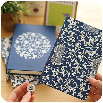 """Blue White Porcelain"" 1pc Journal Diary Classic Luxury Lines Vintage Planner"
