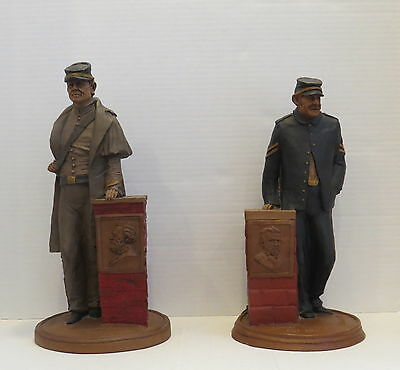 TOM CLARK UNION AND CONFEDERATE CIVIL WAR SOLDIER FIGURINES SET OF 2