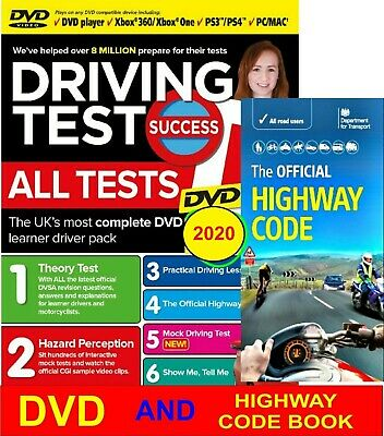 Driving Theory Test DVD & Highway Code Book - 2019.MAC, PS3/4,XBOX  One / 360