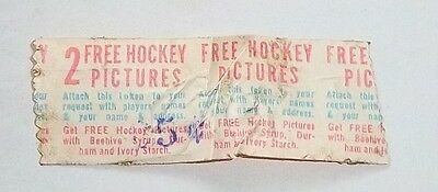 Bee Hive Redemption token or coupon 1940's -1960's for 2 free Hockey photos  #2