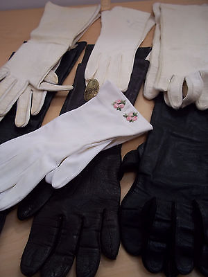 Vintage Women's 7 Pair Assorted Gloves - Fownes, Shalimar, Unmarked - Used