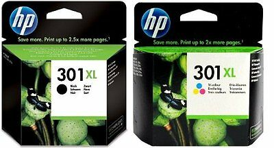 Genuine Original HP 301XL Black + HP301 XL Colour Ink Cartridges Twin Combo Pack