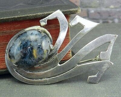 Abstract Mexico 925 Sterling Silver Pin/ Brooch