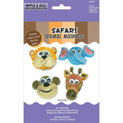 Quilled Creations Kit - Animal Magnets - Safari