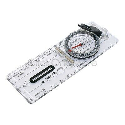 Super Folding Pocket Baseplate Compass Map Scale Ruler Orienteering Hiking MX