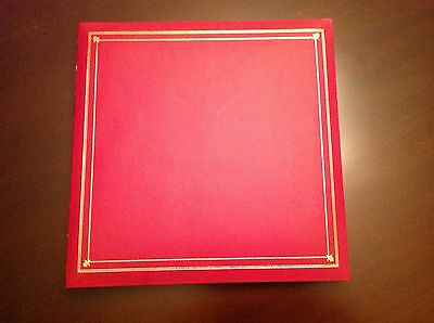 "PIONEER LE MEMO PHOTO ALBUM MP-46 - 4""X6"" - 200+ PHOTOS - PLUS REFILL PACK -RED"