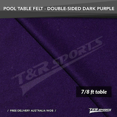 Dark Purple Double-sided Wool Pool Snooker Table Top Cloth Felt for 7''/8''