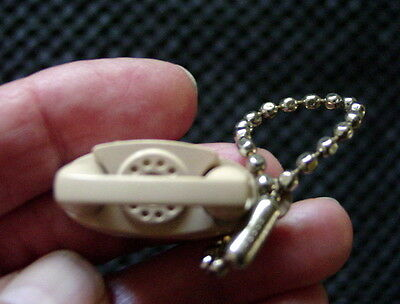 Vintage Advertising Promo Bell Beige Princess Dial Telephone Charm Keychain