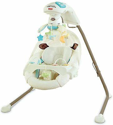 Fisher-Price My Little Lamb Cradle N Swing NEW Rocking Baby Music Toys Mirror