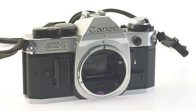 Canon AE-1 Program 35mm SLR Camera Body New Light Seal And Instruct Manual Exc++