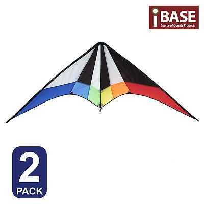 2X Kite Ripstop Outdoor Sports Toy Stunt Gift Idea Dual Control Delta Fly Free