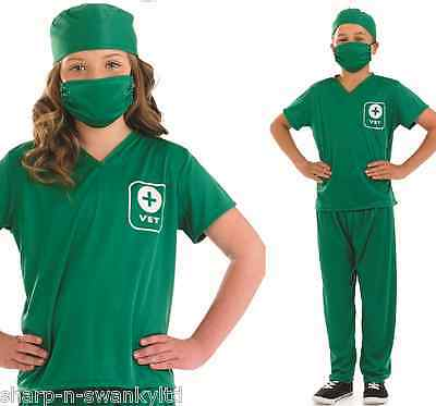 Girls Boys Kids Vet Occupation Nurse Book Day Fancy Dress Costume Outfit 4-12yrs