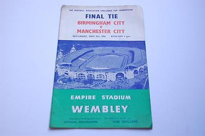 BIRMINGHAM v MANCHESTER CITY May 5 1956 FA Cup FINAL Football Programme EXC RARE