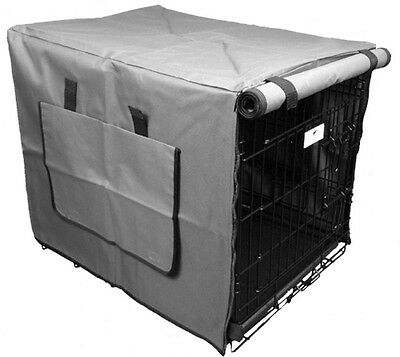 Premium Waterproof Dog Crate Covers, Grey, Small, Medium, Intermediate & Large