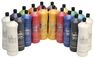 Scola AM600/20/A Artmix Ready-mix Paint 600ml 20 Assorted