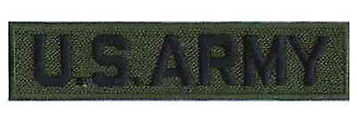 Ecusson brodé hotfix patche thermcollant patch army militaire US ARMY kaki
