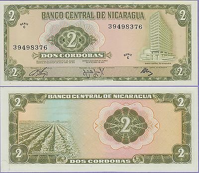 Nicaragua 2 Cordobas Banknote,1972 Uncirculated Condition Cat#121-A-8376