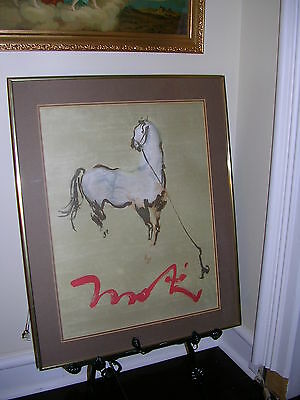 """VINTAGE LITHOGRAPH LARGE,SIGNED,LOOKS LIKE """"MOKI"""" VERY NICE DETAIL,SEE PICTURES."""