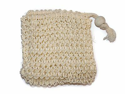Sisal Soap Saver Bag Knitted Exfoliating Vegan Friendly Faire Trade