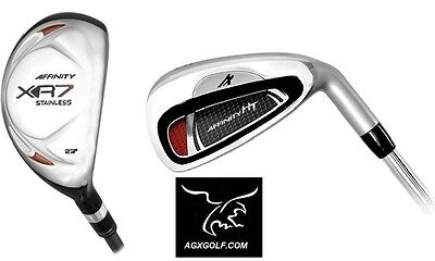 CADET MENS HT STAINLESS STEEL IRONS SET #4 HYBRID IRON+5,6,7,8,9+PITCHING WEDGE