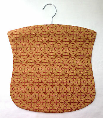 Handmade peg bag. Wooden hanger. Vintage fabric.