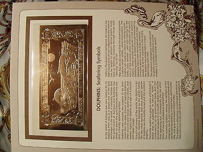 23kt Gold $30 Antigua Bank Note - Dolphins - RARE