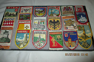European Embroidered Patches - Lot of 20, Germany,Luxembourg, France, Brussels