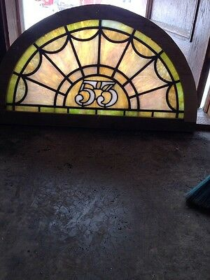 Antique Stainglass Window Arch Design Lucky 53 Sg 118
