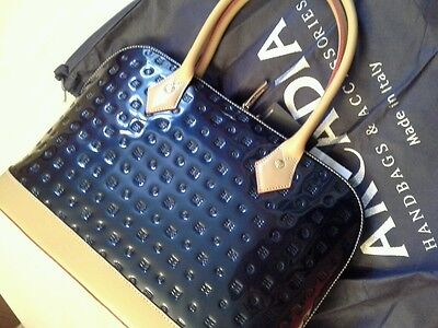 ARCADIA made in italy  leather med Bugatti bag in ocean blue