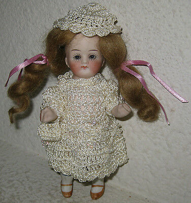 Antique All Bisque German Doll