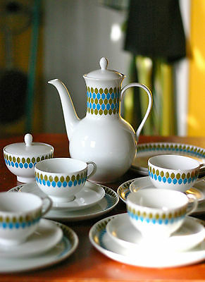 Vintage Melitta tea/coffee pot, cups, saucers 16 pieces EXTREMELY RARE