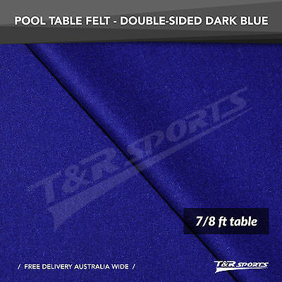 "Dark Blue Double-sided Wool Pool Snooker Table Top Cloth Felt for 7""/8"""