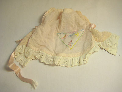 Vintage 1950s Terri Lee Doll Pink Monday Smock w/ Lace Tagged Clothes Outfits