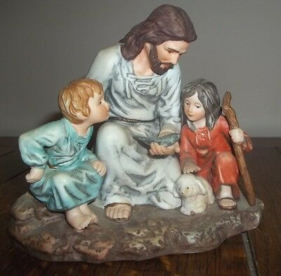 Vintage 1983 homco home interiors masterpiece porcelain figurine the fisherman for Home interior masterpiece figurines