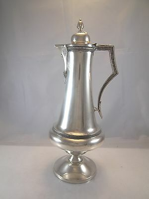 "VICTORIAN TALL OVER 15"" TRIPLE SILVER PLATE WATER JUG WINE EWER COFFEE POT"