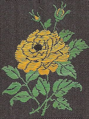Vintage woven tobacco cigarette silk - use in crazy quilt -Turmac wild rose