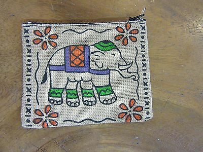 Small Elephant Coin Purse Natural Look