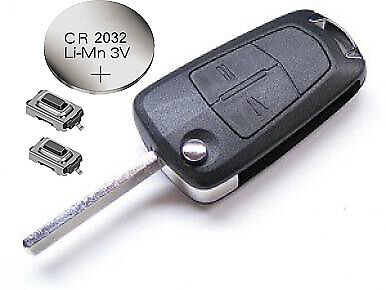 Vauxhall Opel Corsa D Astra H Vectra Zafira Signum 2 Button Remote Key Fob Case