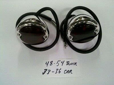 POLISHED STAILESS Tail Lights,'48-'54 Ford Pickups & '33-'36 Ford Cars