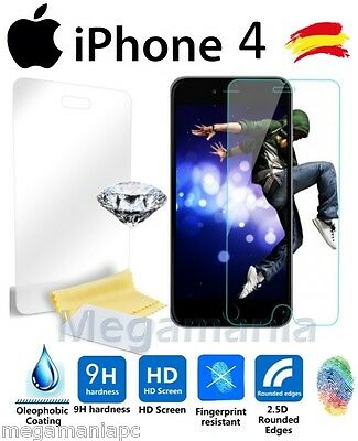 Cristal Templado Apple Iphone 4 / 4S Protector Pantalla Premium Tempered Glass