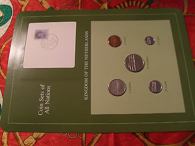 Coin Sets of All Nations Netherlands 1982  - 1984 UNC 70ct STAMP