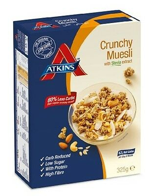 Atkins Crunchy Muesli with Stevia 325 g, Low Carb, High Fibre