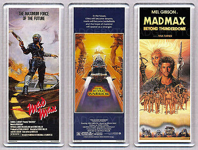 MAD MAX  SET OF THREE LARGE movie poster 'wide' FRIDGE MAGNETS -MEL GIBSON!