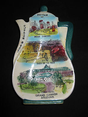 "Ceramic 7"" Grand Canyon, Arizona Collectable Spoon Rest, Good Condition"