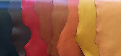 PURE VEG-TAN  LEATHER PIECES VARIOUS SIZES & COLOURS 2mm THICK IDEAL FOR JOURNAL