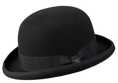 21069310e97 NEW Conner Hats Australian Wool Traditional Tuxedo BOWLER DERBY Hat Black  C1068