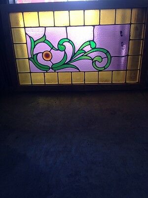 Sg 126 Antique Victorian Stained Glass Window With Rhondell