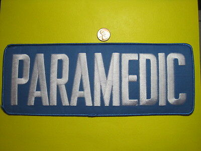 Paramedic Patch Reflective Blue W/ White Back Size Ltrs 4 X 11 In*